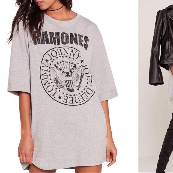 657eaf4e8 Missguided Dresses   Ramones Grey T Shirt Dress Us Size 4   Poshmark
